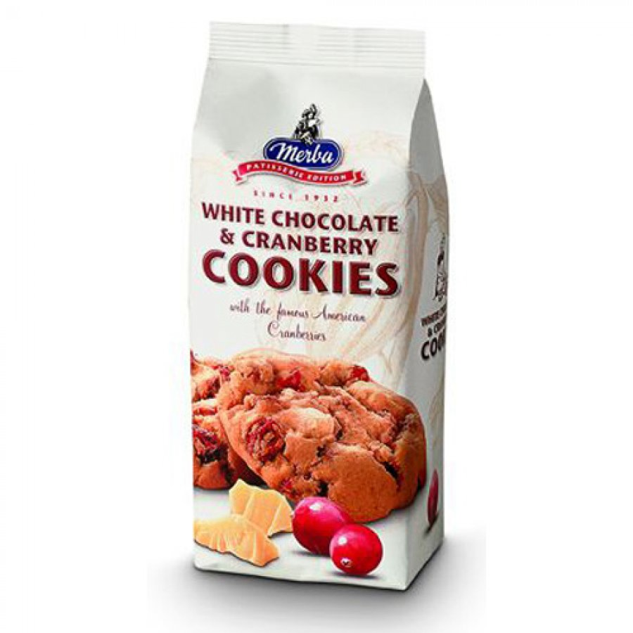Merba White Chocolate Cranberry Cookies 200 g