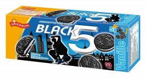 Griesson Black5 Vanillecreme Cookies 225 g