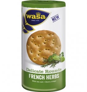 Wasa Delicate Knäckebrot Rounds French Herbs 250 g