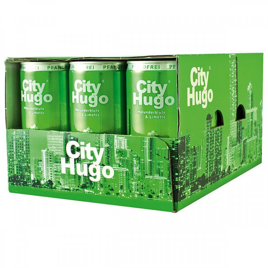 City Hugo Holunderblüte & Limette 6,9%vol 12 x 200ml