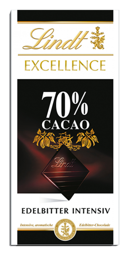 Lindt - Excellence 70%, 100 g