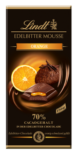 Lindt - Edelbitter Mousse Orange, 150 g