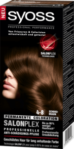 Zurück Startseite Haar Haarfarbe Colorationen Coloration 4-8 Schokobraun Syoss Coloration 4-8 Schokobraun