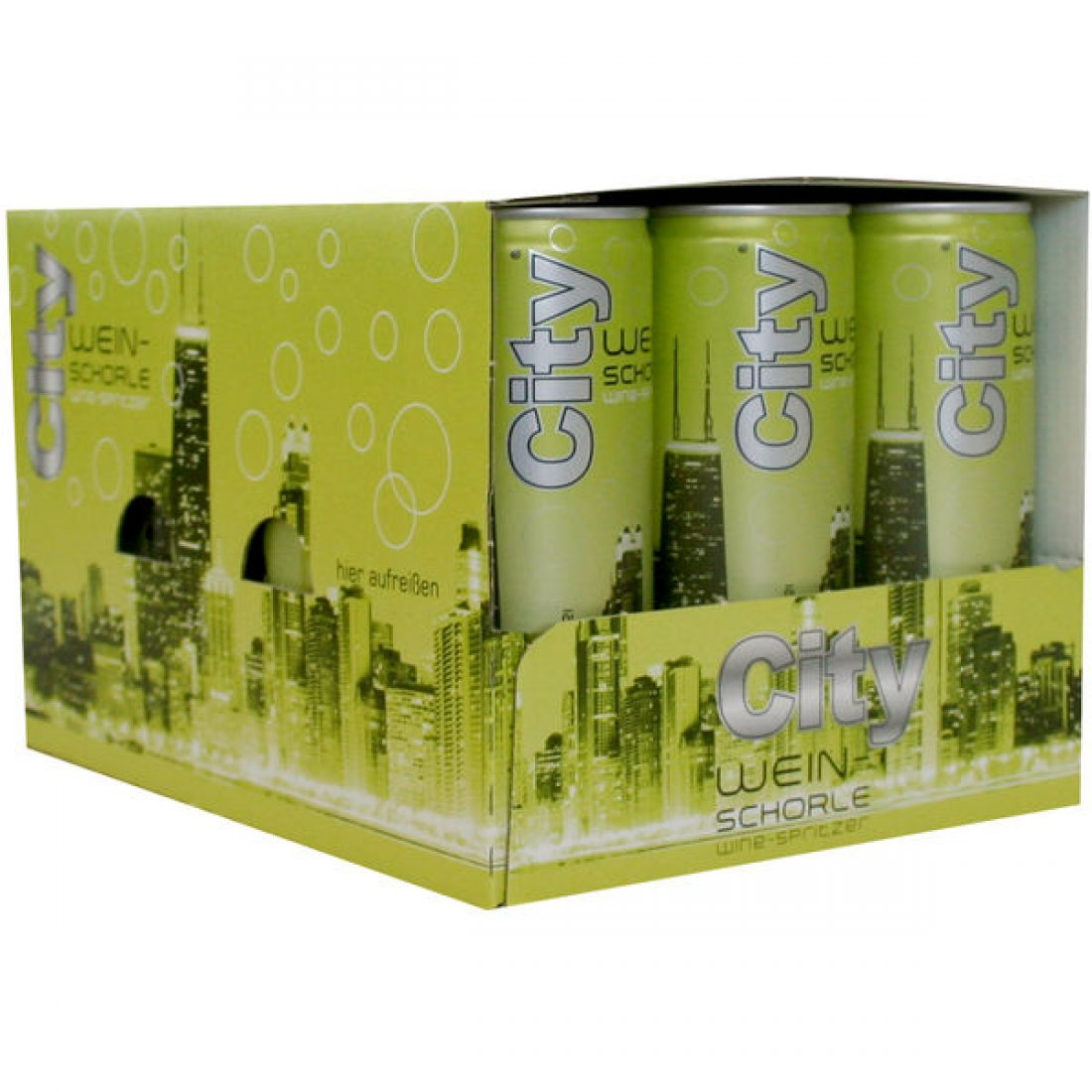 City Weinschorle Weiß 6,5% vol 12 x 250ml